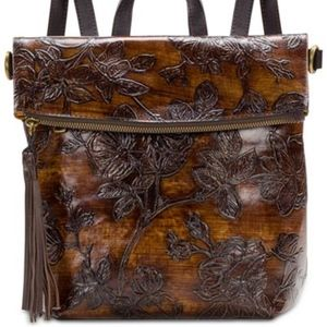 NWT Patricia Nash Bark Leaves Luzille Backpack